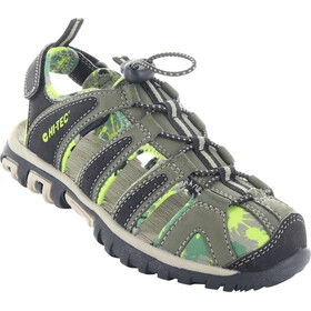 Hi-Tec Cove Chaussures Enfant, olive night/lime green